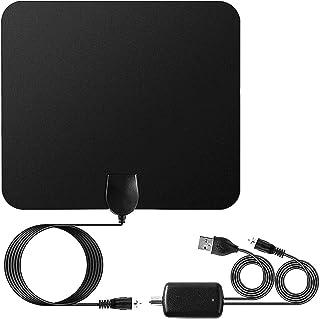 Digital HD TV Antenna,Totalmall TV Antenna Indoor 100 Mile Range Amplified, 4K 1080p &All TV`s High Defination TV Receptio...