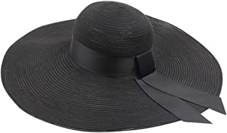 Elegant Ladies Sun Hat, Women Wide Brimmed Floppy Foldable Summer Sun Beach Hat Beach hat Foldable Straw Hat