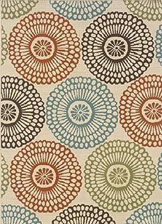 "Moretti Wordhaven Area Rug 697J6 Beige Circles Dots 7' 10"" x 10' 10"" Rectangle"
