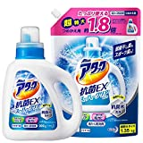 【Amazon.co.jp 限定】【まとめ買い】アタック抗菌EXスーパークリアジェル 洗濯洗剤 液体 本体+詰め替え1.35㎏