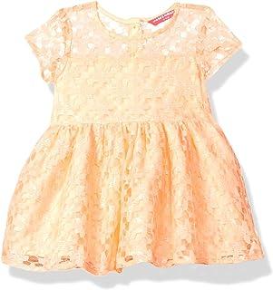 Amazon Brand - Jam & Honey Baby-Girl's Synthetic Skater Knee-Length Casual Dress