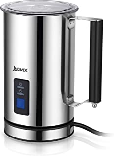 JYDMIX Milk Frother Electric Liquid Heater with Hot & Cold Milk Functionality, Stainless Steel Milk Steamer, Automatic Foam Maker For Coffee, Latte, Cappuccino(FDA Approved)