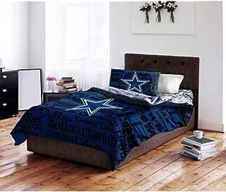 Dallas Cowboys NFL Twin Comforter & Sheet Set (4 Piece Bedding)