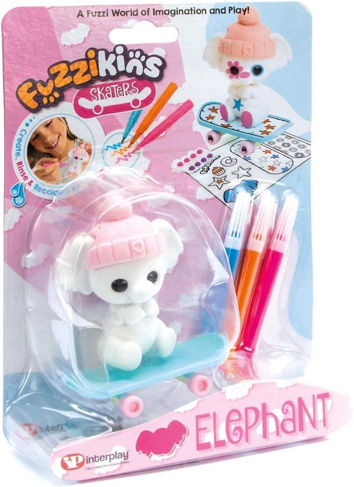 Fuzzikins FF122 Fuzzi Skaters Elephant Figure Now on 40% OFF Cheap Sale sale Animal