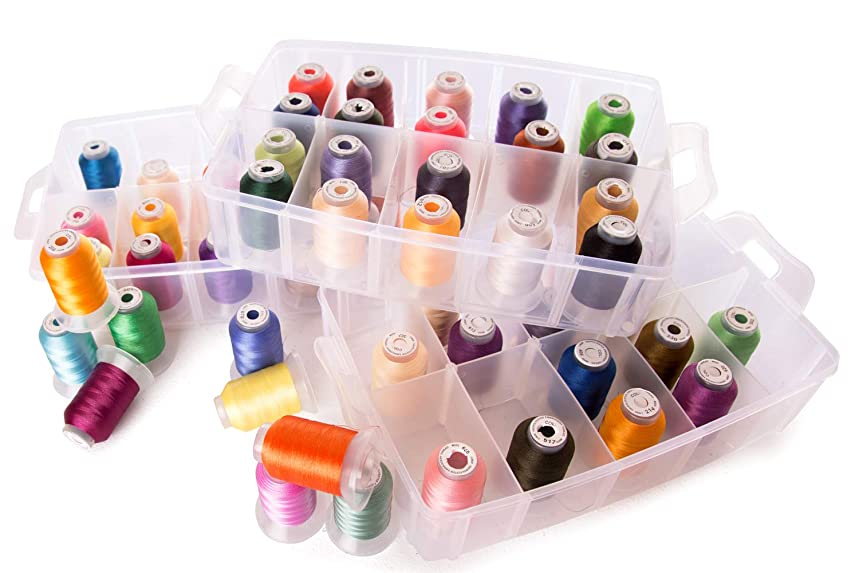 60 Spools Polyester Embroidery Machine Thread & Storage Container