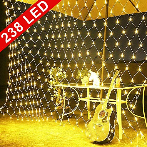 Tenda Luminos, Rete di luci a LED, 238 LED Ghirlanda Luminosa, 3 x 2m, Luci da Esterno Natalizie USB, LED Natale Luci Decorative, Natalizie da Esterno e Interno per Festa, Matrimonio, Giardino, Natale
