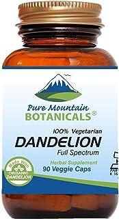 Sponsored Ad - Dandelion Root Capsules - 90 Kosher Vegan caps Now with 450mg Organic Dandelion Root Powder
