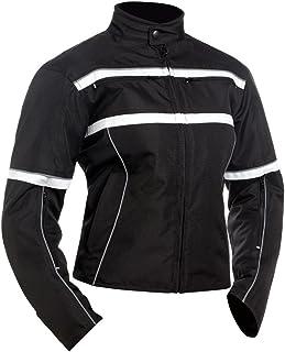 BILT Women`s Helia Waterproof Vented Textile Motorcycle Jacket - 2XL, Black/White