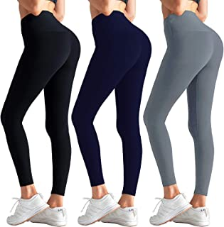 Women High Waisted Leggings - No See ThroughYoga Athletic Tummy Control Leggings Pants for Workout Running