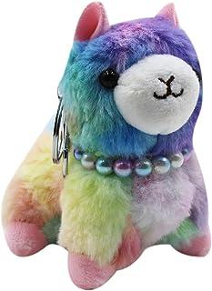Cute Keychain Plush Alpaca Sheep Stuffed Animals Charm Pendant Key Purse Bag Car Key Ring Clip Gift