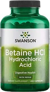 Swanson Hydrochloric Acid w/Pepsin 250 Capsules