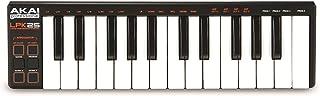 AKAI Professional LPK25 - Teclado controlador USB MIDI de 25 teclas para DAW e instrumentos virtuales en portátiles (Mac/PC) con software de edición incluido