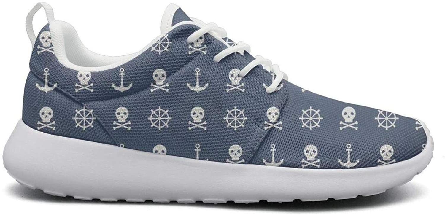 Wuixkas Skull Nautical Symbols Womens Lightweight Mesh Sneakers Casual Running shoes