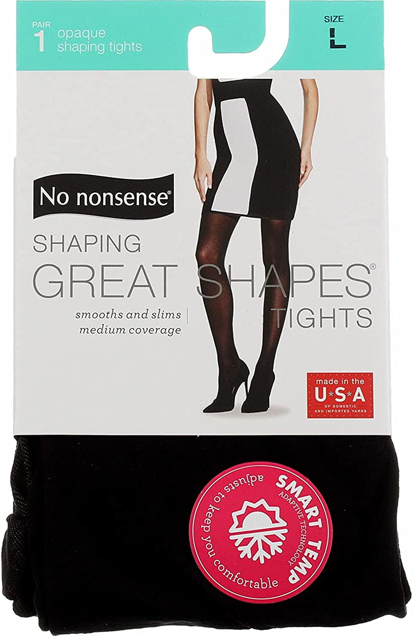 No Nonsense Women's Opaque Shaping Tight 3-Pack