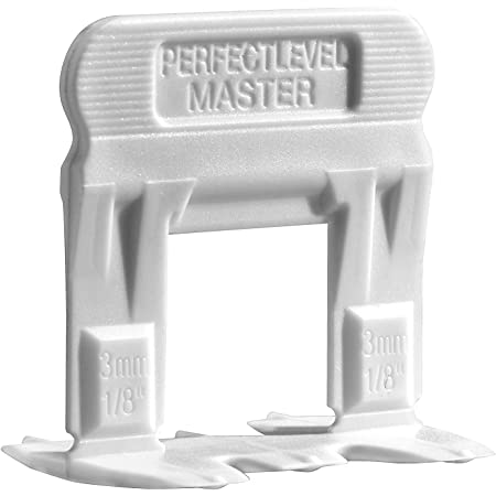 Perfect Level Master T-Lock Clip - 3mm (1/8 inch) 250 pcs - Professional Anti Lippage Tile Leveling System