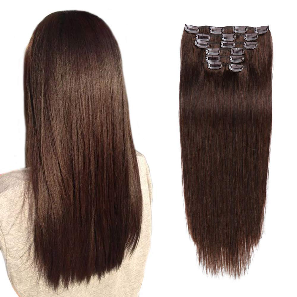 Alishow Clip in Special sale item Extensions Human We OFFer at cheap prices Hair 70g R Weft Double 7pieces