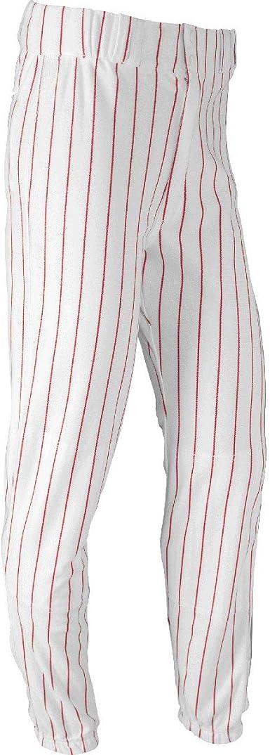 Nouveau champro Homme Adulte Baseball Pantalon Taille L Gris Noir Tuyau Longueur Genou