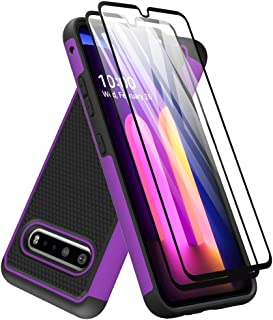 LG V60 ThinQ Case with Tempered Glass Screen Protector [2 Pack], Dahkoiz Armor Defender Cover LG V60 ThinQ 5G Cases Dual L...