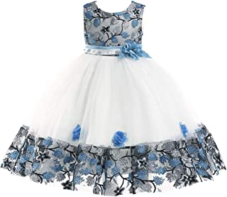 JIANLANPTT Flower Girl Dresses Toddler Little/Big Girls Birthday Party Dress