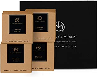 The Man Company Chaar-Cool Bars - Natural Handmade Activated Charcoal Soap   Removes Blackheads, Treats Acne   Deep Cleans...
