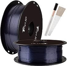 TTYT3D 3D Printer Shiny Silk Metal Sparkle Black PLA Filament, 1.75mm 3D Printing Material 1Kg Spool Widely Compatible FDM 3D Printers