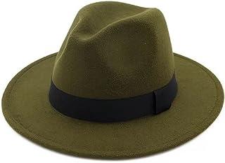 05d2f1a77698e4 JOYEBUY Women Lady Wide Brim Warm Wool Fedora Hat Classic Belt Panama Hat