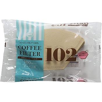 ストリックスデザイン 無漂白 ペーパーコーヒーフィルター 102 100枚 未晒し 2~4杯用 日本製 開きやすい SD-903