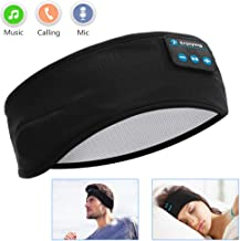 Sleep Headphones Bluetooth, Voerou Wireless Headband Headphones Sports Sweatband with..
