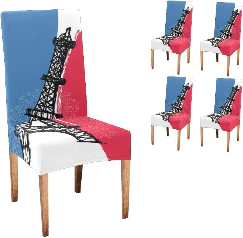 CUXWEOT Chair Sale price OFFer Covers for Dining Room Flag French Tower Pa Eiffel