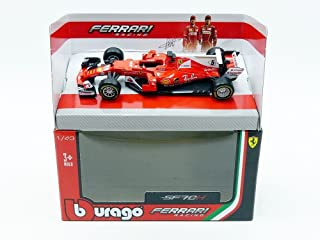 Bburago 2017 Ferrari Racing Formula 1 SF70-H Sebastian Vettel #5 1/43 36805 SV Toy, Red