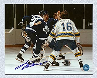 Tiger Williams Toronto Maple Leafs Autographed Enforcer Fight 8x10 Photo - Signed Hockey Pictures