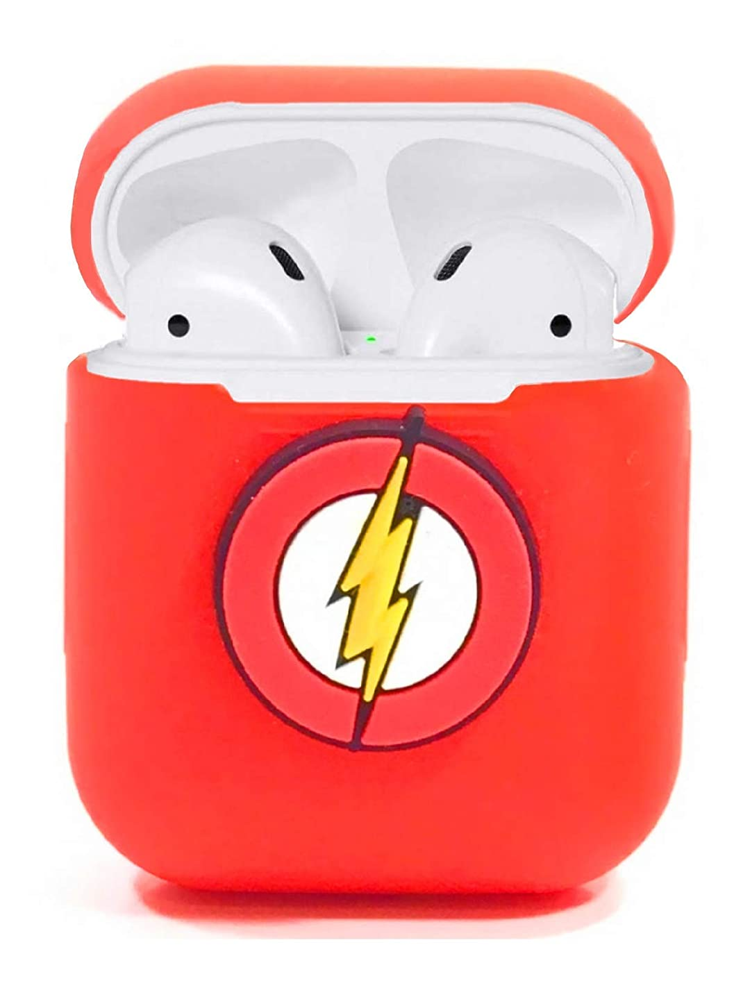 Apple AirPods Accessories Skin Cover Protective Case - The Flash. (Red)
