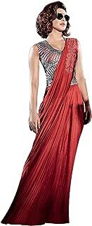 Indian Bollywood Priyanka Gown Saree Lycra Fabric for women dress sari salwar Hit 9