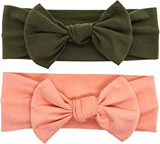 Babygiz Baby Girl Headbands-Infant,Toddler Cotton Handmade Hairbands with Bows Child Hair Accessories