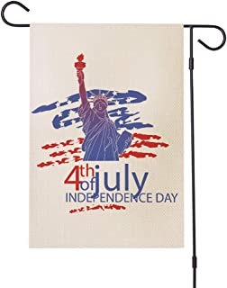 JOJUSIS American 4th of July Decorative Garden Flag Outdoor Yard Lawn Patio Farmhouse Patriotic US Double Sided 12 x 18 Inch Statue of Liberty