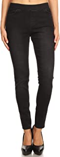 Women's High Waisted Stretchy Pull-On Skinny Denim...