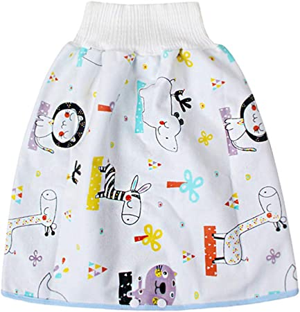 Coomir Jupe de Couche-Culotte Anti-fuites Taille Haute pour Enfants de Bande dessin/ée Confortable Respirant