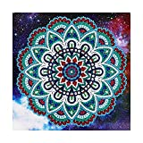 VETPW DIY 5D Patrón de Mandala Diamante Pintura Kit, Bricolaje Diamond Pasted Painting Bordado De Punto De Cruz Diamante Arts Craft para Decoración de la Pared del Hogar (30x30CM)