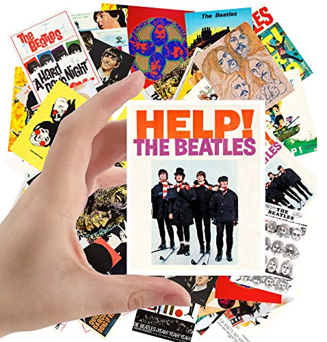 Large Stickers (24 pcs 2.5'x3.5') The Beatles Vintage Posters Movies Covers Comic