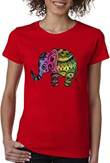 Yoga Elephant Yogi Ladies T-Shirt I Love Elephants Lotus Bikram Shirts