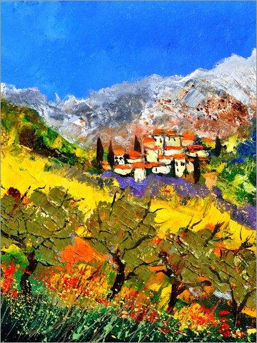 Posterlounge Acrylglasbild 30 x 40 cm: Provence von Pol Ledent - Wandbild, Acryl Glasbild, Druck auf Acryl Glas Bild