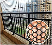 安全ネット 多目的な用途のネット 階段ネット 防護ネット 子供 転落防止網 屋内バルコニーや階段セーフティネット猫の保護ネット - ブラックカラー - バニスター階段ネット - 子供の安全。ペットの安全性;階段プロテクター 怪我防止 危険防止 簡単設置 丈夫 取り付けバンド付属 (Color : Black, Size : 1x8m)