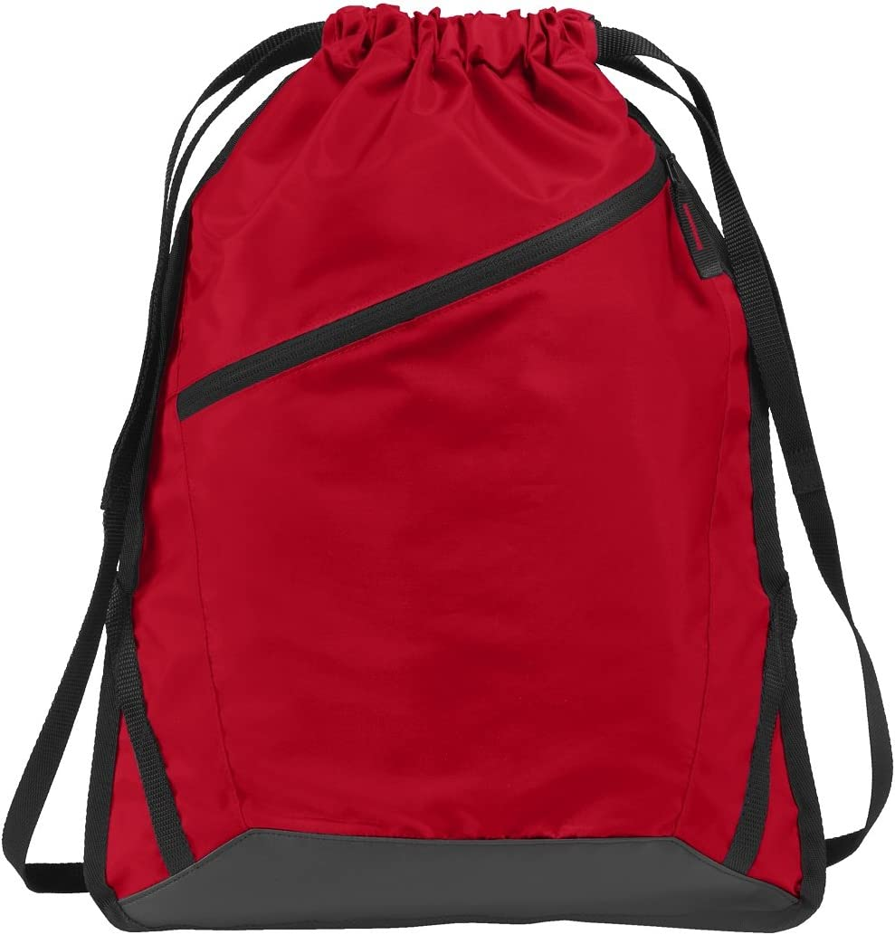 trend rank Drawstring Backpack with Zippered Front Durable Pocket Ranking TOP13 Reinforce