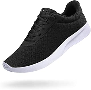 Men's Running Shoes Athletic Sneakers Casual Mesh Walking Shoes Lightweight Tennis Footwear for Men Comfortable Workout Trainer Breathable Road Running Sneakers Black Size: 10
