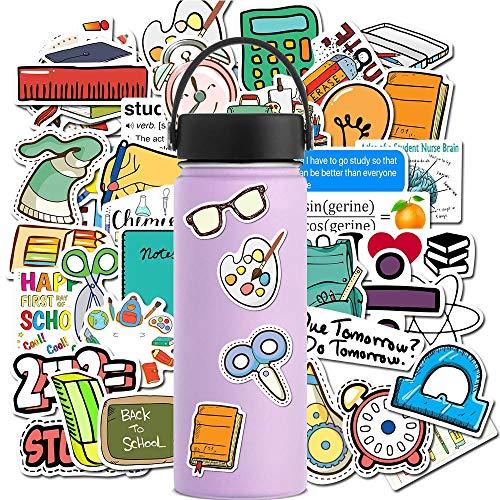 XXCKA Schulbedarf Nettes Buch Mathematische Formel Aufkleber Für Wasserflaschen wasserdichte Ästhetische Aufkleber Für Laptop Telefon Auto 50St