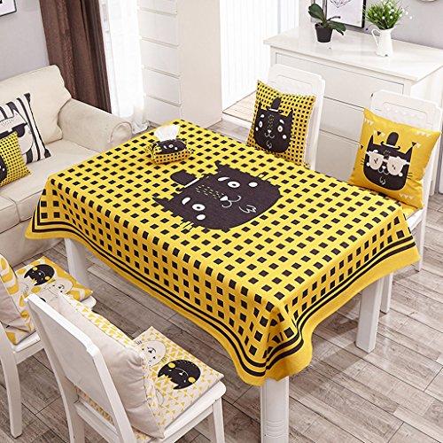 Nappe européenne Nappe en lin, nappe de table ronde Table basse anti-chaude Rectangle Nappe Nappe de restaurant ( Couleur : # 3 , taille : 140*180CM )