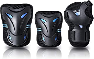 JBM international JBM Multi Sport Protective Gear Knee Pads and Elbow Pads with Wrist Guards for Cycling, Skateboard, Scooter, BMX, Bike and Other Extreme Sports Activities