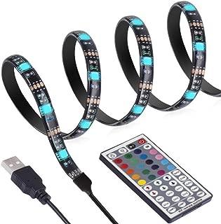 ANSCHE 3M(9.84ft) USB LED Strip TV Backlight Kit, LED TV RGB Strip Lighting for HDTV Remote Control 20 Color&Mode Bias Mood Lights USB Powered Stick-on Rope Light Ambient Decoration IP65 Waterproof