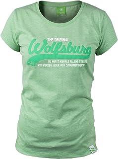 VfL Wolfsburg T-Shirt Kids Du wirst niemals alleine stehn grün Größe 116 - 164 140