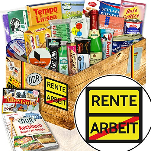 Rente / Ruhestand Geschenk lustig / Ostalgie Geschenkset